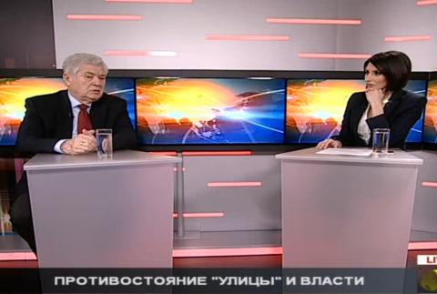 Владимир Воронин в передаче «Честно говоря» на телеканале Realitatea TV